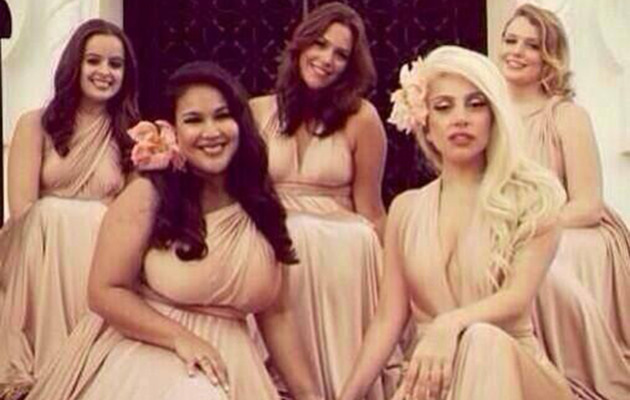 Lady Gaga Looks Surprisingly Normal at Best Friend's Wedding