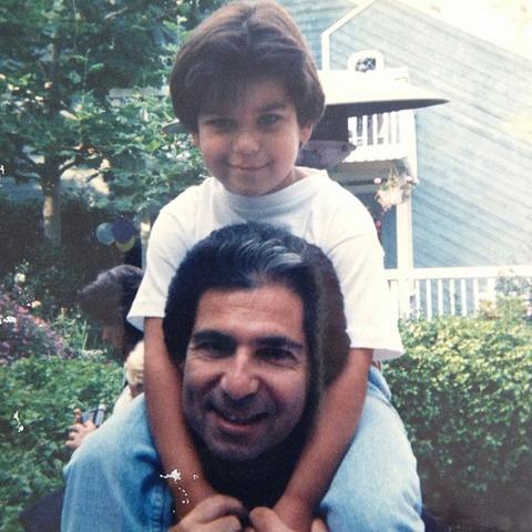 Rob Kardashian with his father!