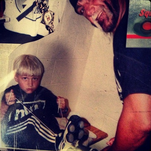 Nick Hogan with his father!
