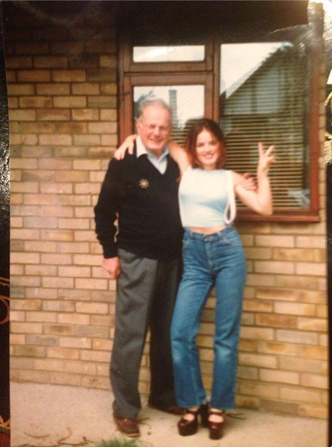Geri Halliwell with her father!
