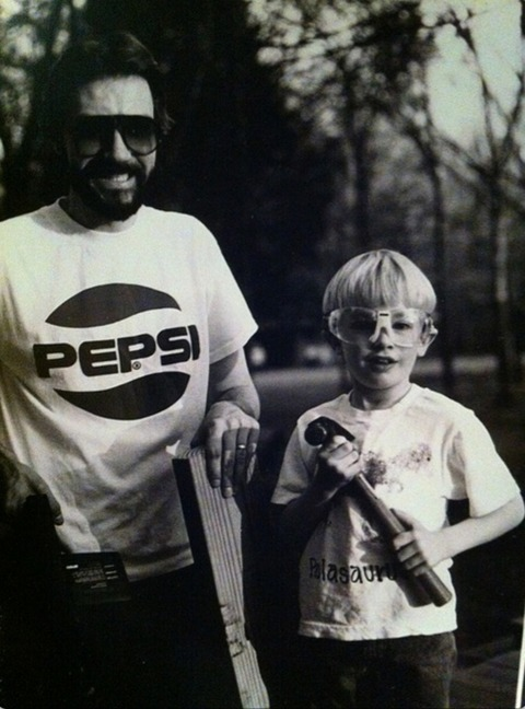 Paul McDonald with his father!