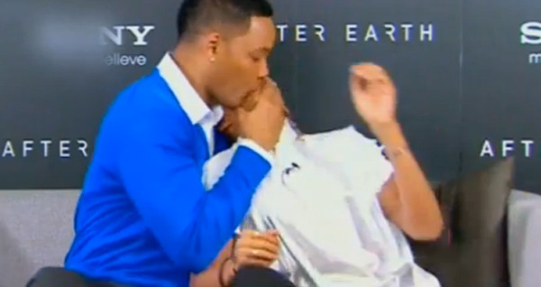 Video: Will Smith Kisses Jaden on the Mouth on TV