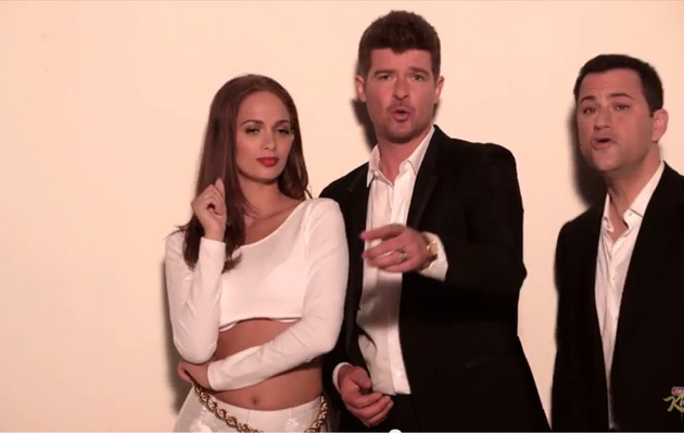 "Viral Video: Jimmy Kimmel's Hilarious ""Blurred Lines"" Parody!"