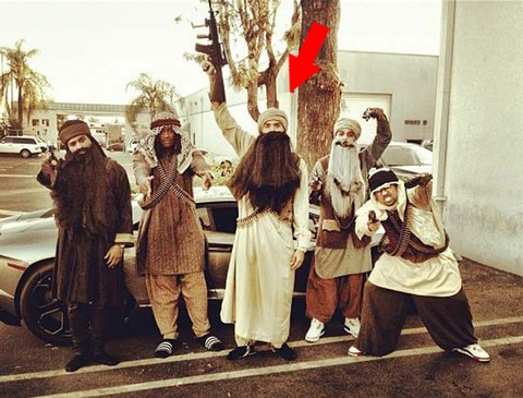 Chris Brown terrorized Hollywood in Taliban Costume on Halloween in 2012.
