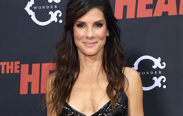 "Sandra Bullock: Super Sexy In Black Leather at ""The Heat"" Premiere"