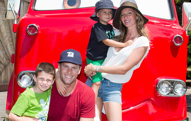 Tom Brady and Gisele Bundchen Take Kids to Disneyland!