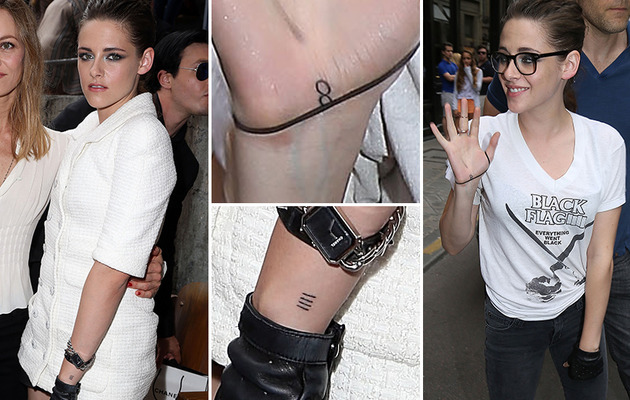 Kristen Stewart Shows Off Two New Tattoos In Paris
