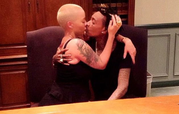 Wiz Khalifa & Amber Rose Get Married -- See the Pic!