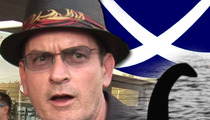 Charlie Sheen -- Gone Fishin' for the Loch Ness Monster!!