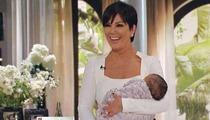 Kris Jenner -- FAKE BABY ON TALK SHOW!!!
