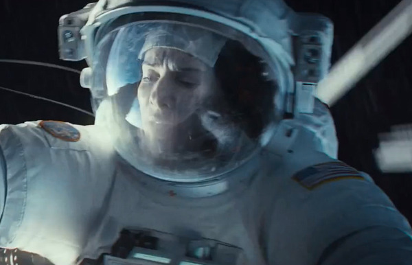 "Insane ""Gravity"" Clip Shows Sandra Bullock & George Clooney In Peril"