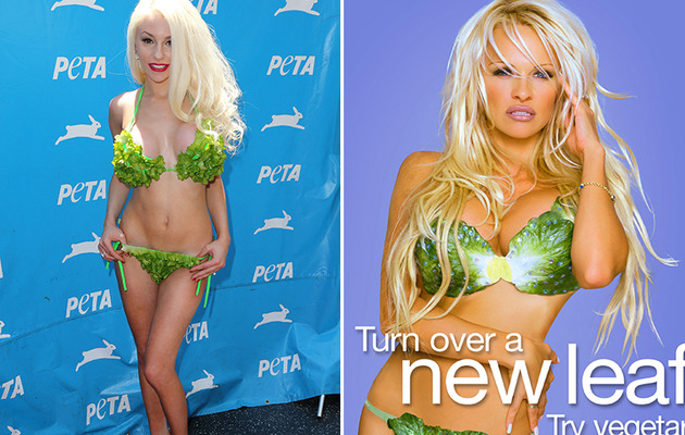 Courtney Stodden Wears Lettuce Cup Bikini for PETA!