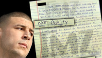 Aaron Hernandez Jail Letter -- God Put Me In Jail
