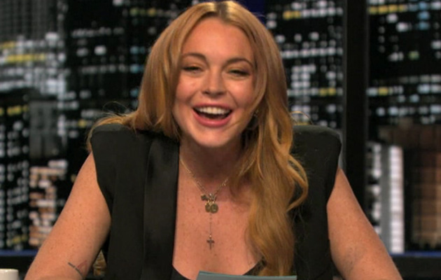 "Lindsay Lohan Emerges From Rehab, Hosts ""Chelsea Lately"""