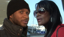 Usher & Tameka -- Battle Brewing Before Pool Accident