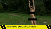 Lady Gaga -- Full Frontal Nudity in Weird Yoga Forest