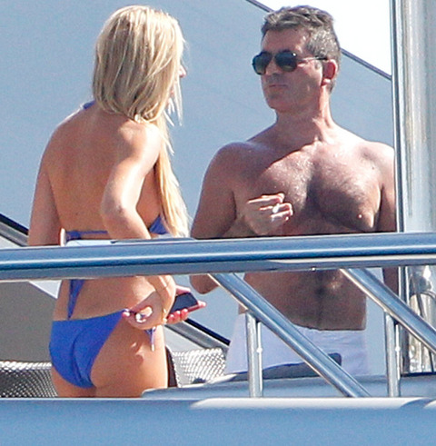 from Marcel blonde on simon cowell yacht