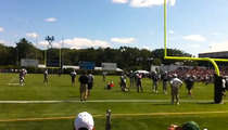 Tom Brady -- WRITHING IN PAIN ... Injures Knee at Patriots Practice
