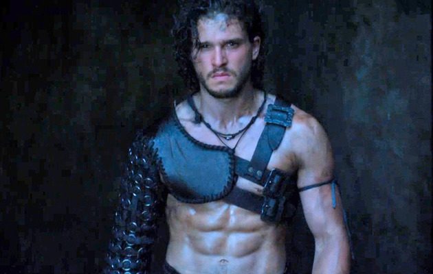 "First ""Pompeii"" Trailer Stars Kit Harington (And His Surprising Abs!)"