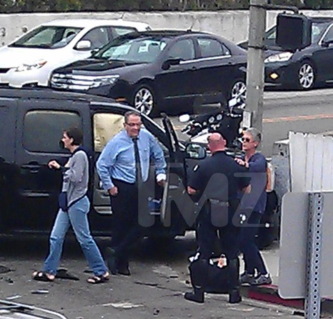 Jamie Lee Curtis was the passenger in the chauffeured car at the time of the crash