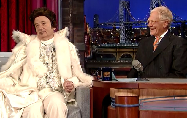 "Video: Bill Murray Sports Liberace Getup on ""Letterman"""