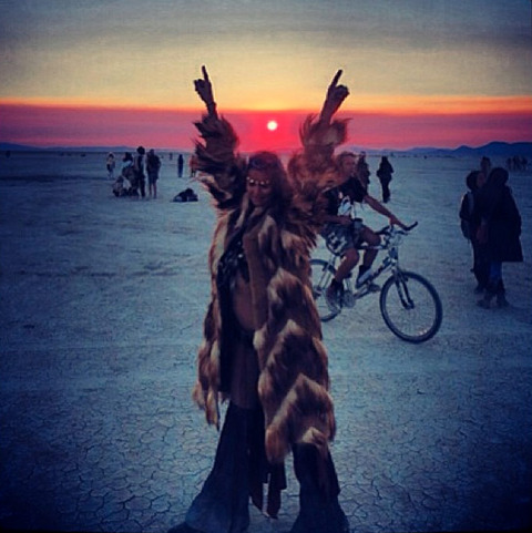 """<span>Just two months after her split from</span><strong>George Clooney,</strong><span></span><strong dir=""""ltr"""" id=""""tinymce"""" class=""""mceContentBody """">Stacy Keibler</strong><span>trekked into the scorching Nevada desert for the</span><strong>Burning Man</strong><span>festival ... in a very tiny outfit.</span>"""