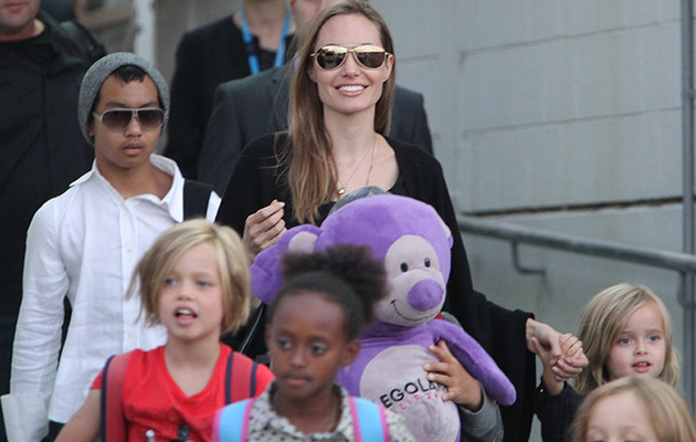 Angelina Jolie Arrives in Sydney with Kids -- And They've Gotten Big!