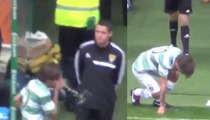 Louis Tomlinson -- One Direction Singer PUKES After Soccer Collision