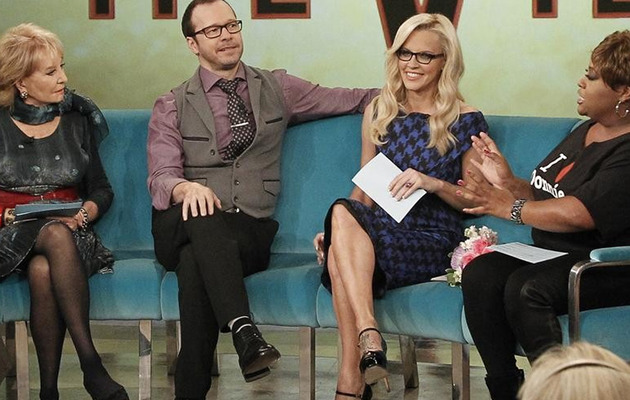 "Jenny McCarthy Makes ""The View"" Debut with Boyfriend Donnie Wahlberg"
