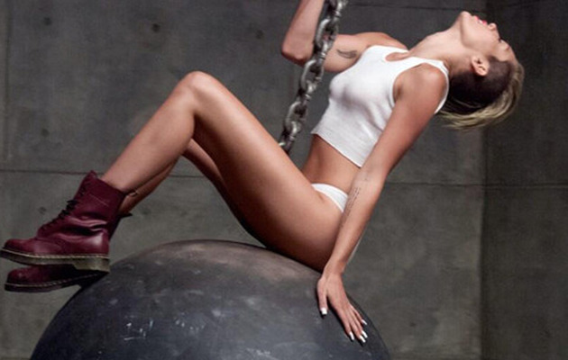 "Miley Cyrus Releases NAKED Music Video for ""Wrecking Ball"""
