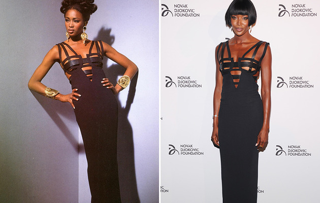 Naomi Campbell Rocks Same Versace Dress ... 21 Years Later!