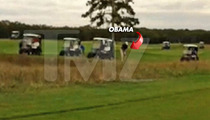 Barack Obama -- Yells At Himself After Bad Golf Shot ... 'Not THAT Far Left'