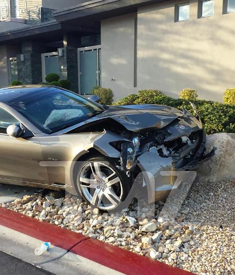 Carlos Santana totaled his car in Vegas after falling asleep at the wheel