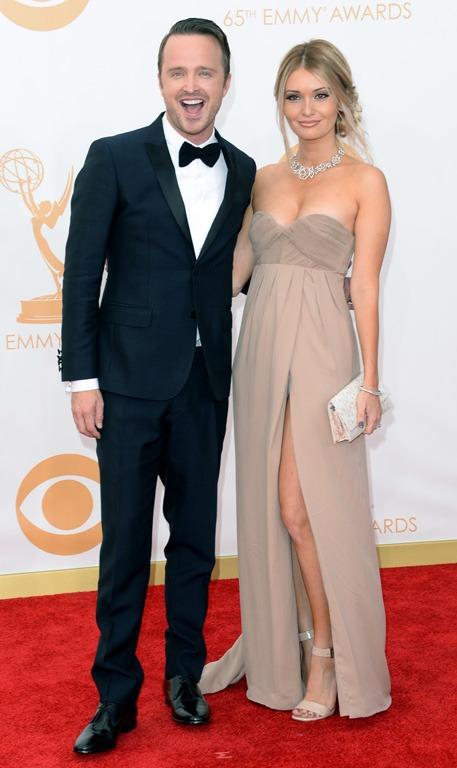 Aaron Paul and Lauren Parsekian
