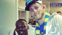 Jon Jones and Gustafsson  -- Hospital Bro-Down After Bloody Fight