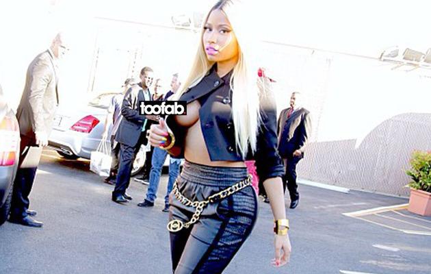 Nicki Minaj Steps Out without Putting on a Shirt!