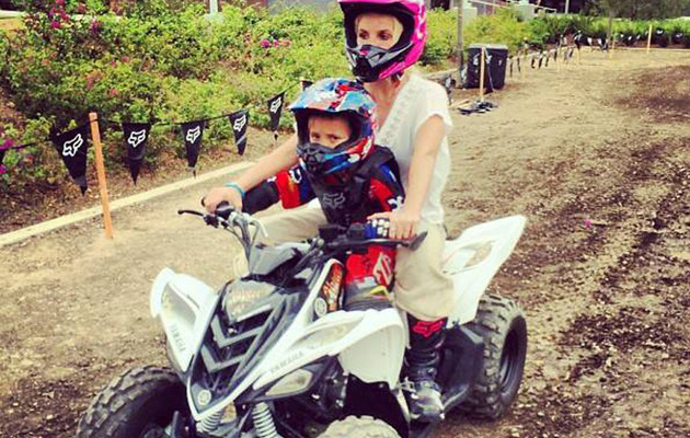 Fun Photos: Britney Spears Goes ATV Riding with Her Sons!