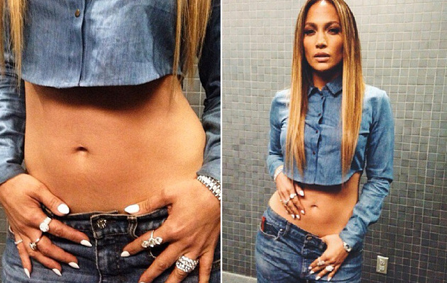 Jennifer Lopez Flaunts Amazing Abs at 44!
