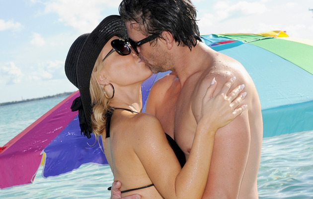Gretchen Rossi & Slade Smiley Share Major Beach PDA!