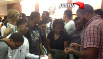 Atlanta Falcons Star Justin Blalock Teaches Finance to High School Kids -- DON'T BE STUPID WITH YOUR MONEY!