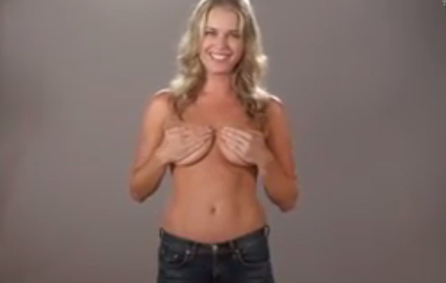 Funny Video: Rebecca Romijn Markets Her Hand Bra!