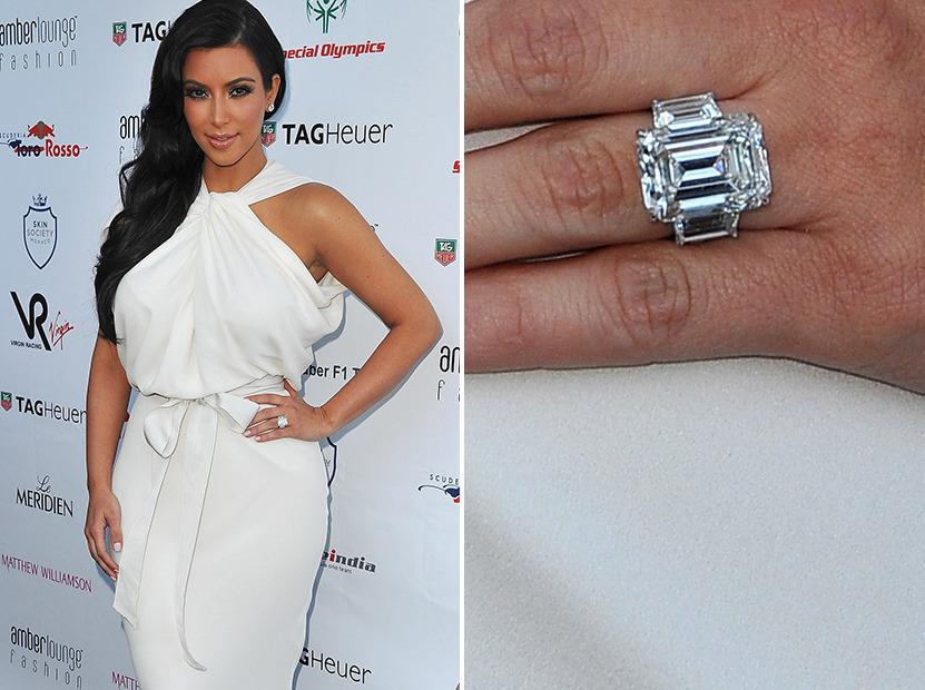 Kim Kardashian Engaged to Kanye West See the Ring toofabcom