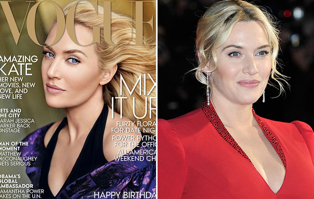 Kate Winslet's Vogue Cover Sparks Photoshop Backlash!