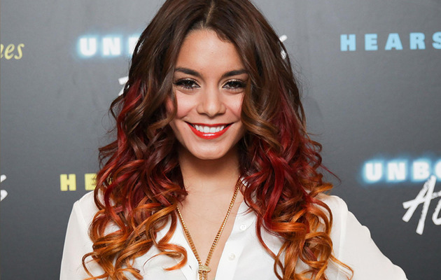 Vanessa Hudgens Debuts Red Rainbow Hair!