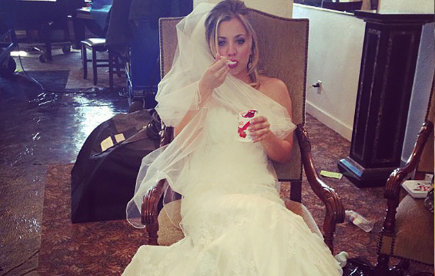 Kaley Cuoco Posts Wedding Dress Photo!