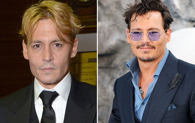 Johnny Depp Debuts Bleached Hair!