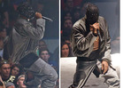 Kanye West -- PEEP DEEZ NUTS ... Crotch Rips During Seattle Concert