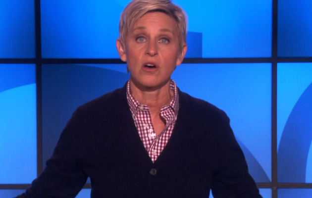 Ellen DeGeneres Jokes About Kim K. Engagement, Gives Kanye a Warning