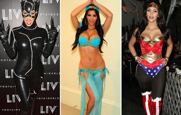 Kim Kardashian's Sexiest Halloween Costumes!