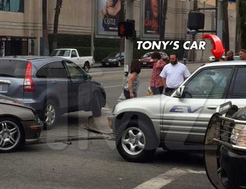 """Monk"" star Tony Shalhoub -- and his dog -- were involved in a multi-car accident right outside the Paramount Studios in 2013"